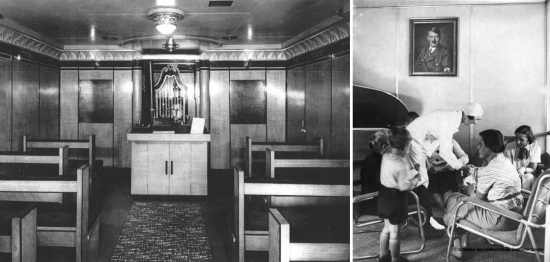 Queen Mary's Jewish synagogue I Hindenburg's Lounge