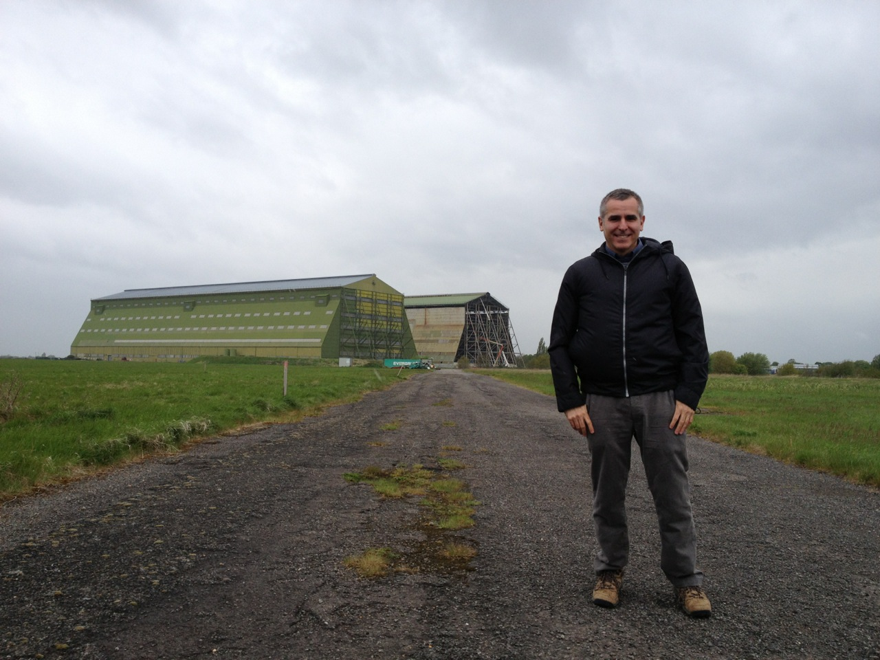 Dan Grossman at Cardington Airship Sheds