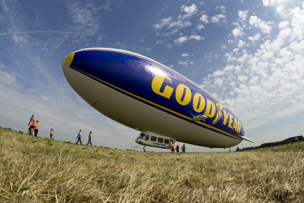 Zeppelin NT in Goodyear colors