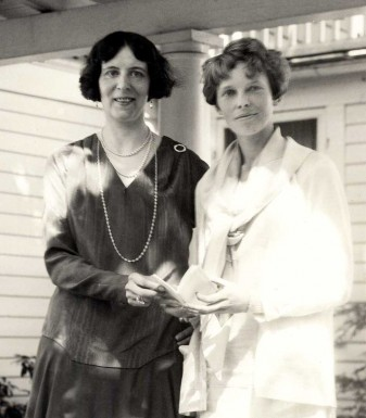 Clara Adams and Amelia Earhart