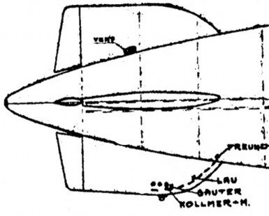 Location of Helmut Lau, Sauter, Kollmer, and Freund at time of explosion.