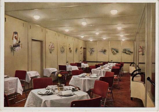 Dining Room of Airship Hindenburg